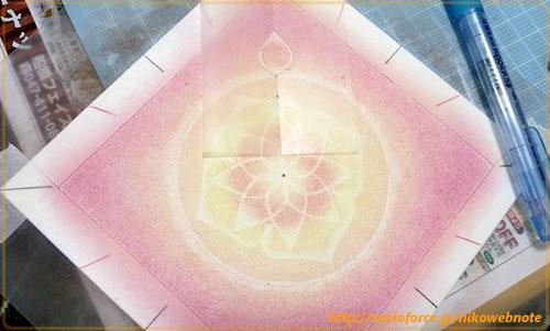 円の周りに花びらを描く