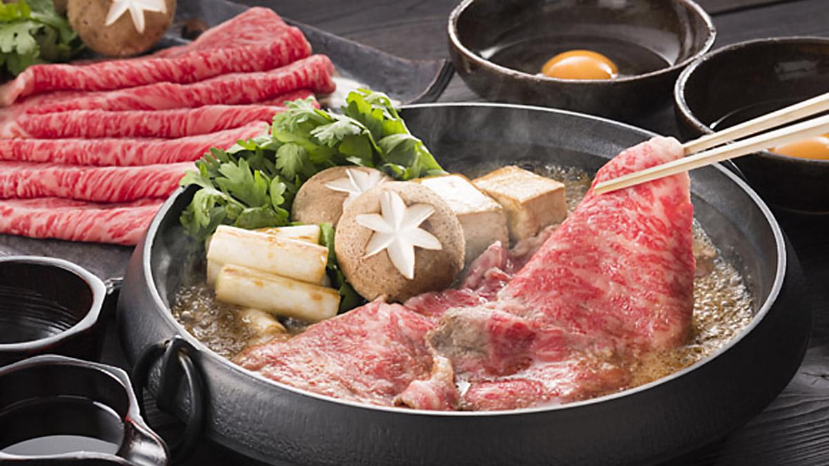 すき焼き鍋調理例