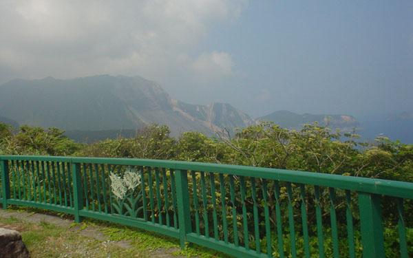 神津島山の風景