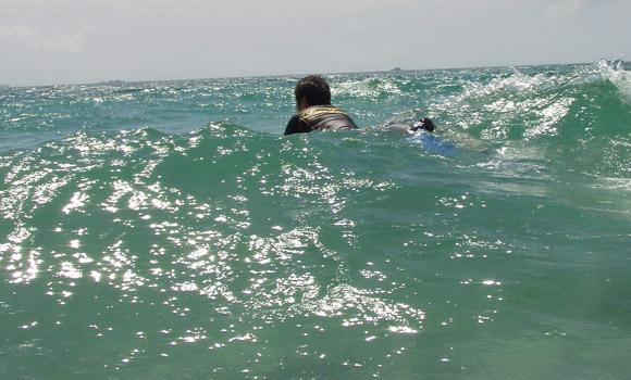 多々戸浜の波