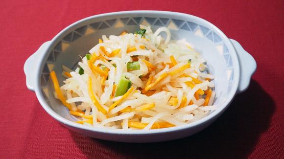 大根にんじん小松菜の3色和え