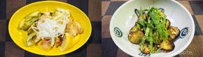 """鶏もも肉とアボカドの""""玉みそ""""焼き調理例"""