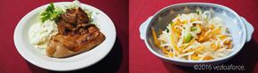 タルタルがけ漬け鶏のまんぷくソテー調理例