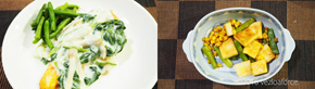 旨み熟成秋鮭の和野菜クリームソース調理例