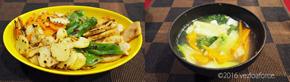 蒸し鶏と3種野菜の韓国風ピカタ調理例