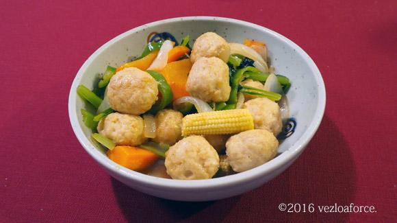 包丁いらず!鶏団子と野菜の中華炒め