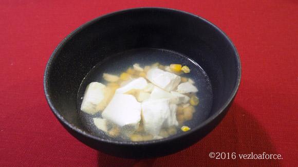 とろーり豆腐とコーンの中華スープ